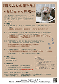 猫のための便利屋フライヤー